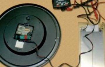 Solar Clock Recharging Unit